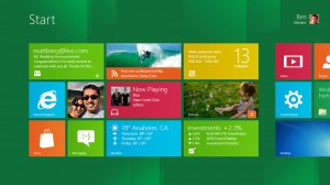 Screenshot dello Start Menu in Windows 8