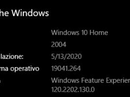 windows 10 versione 2004 aggiornamento maggio 2020
